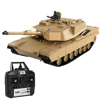 1:16 2.4G US M1A2 ABRAMS RC Battle Tank Smoke & Sound Radio Remote Control Toys