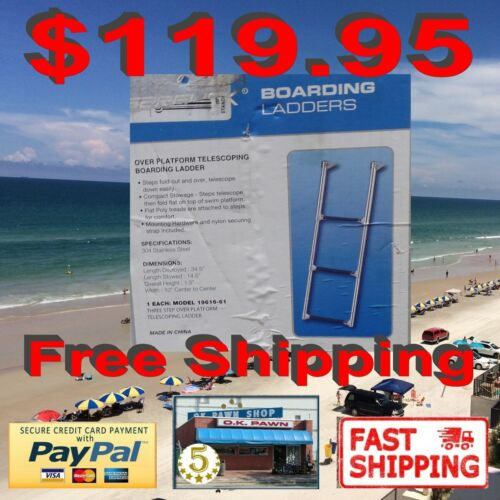 Garelick Eez-In 3-19616-61 Over Platform Telescoping Ladder, 3-Step Free Shippin