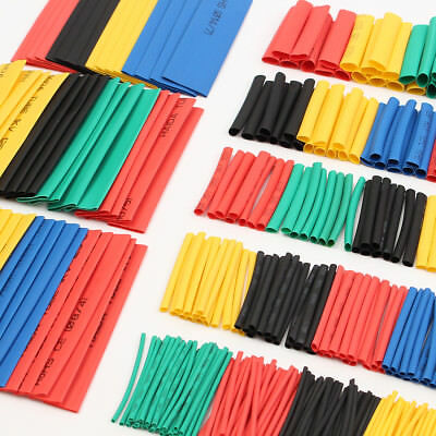 328pcs 8 Sizes Assortment 21 Heat Shrink Tubing Sleeving Wrap Wire Kit 1-14mm