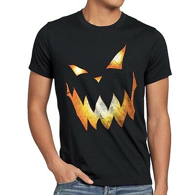 Halloween Kürbiskopf Herren T-Shirt Kürbis Fasching Kostüm Party Kopf Spuk - Herr Kürbiskopf Kostüm