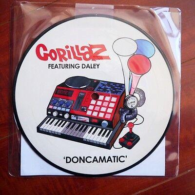 """Gorillaz """"Doncamatic / Empire Ants"""" 7"""" EP Picture Disc Vinyl Blur"""