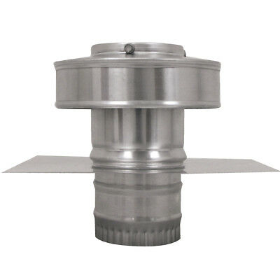3 In. Diameter Aluminum Round Back Roof Jack Vent Cap For Existing Duct Work