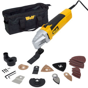 Wolf 260w Oscillating Combo Multi Function Power Tool 28 Piece Accessory Set
