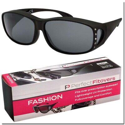 FIT OVER SUNGLASSES LADIES BLING RHINESTONE WITH CASE OVER THE TOP FASHION (Fit Over Sunglasses With Bling)