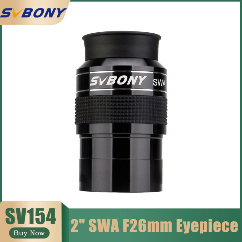 "SVBONY SV154 2"" 70° SWA 26mm Super Wide Angle Eyepiece Telescope Eyepiece FMC"