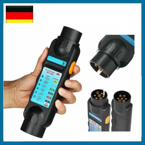 Prüfgerät Anhänger Tester 7/13 Polig 12V Trailer Beleuchtungstester KFZ Prüfer