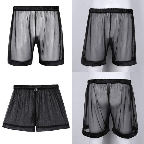 Details zu Herren Baumwolle Boxer Slip Kurze Hose Lange Bein Sport Unterhose Nachtwäsche