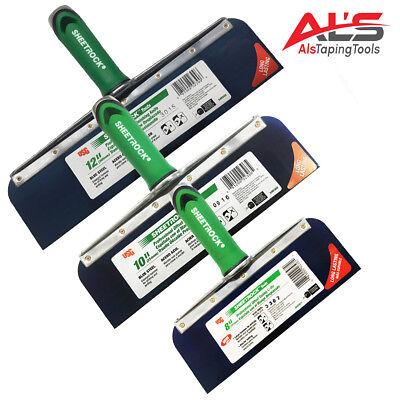 Usg Sheetrock Drywall Offset Taping Knife Combo - 8 10 12 Blue Steel - New