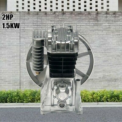 2hp 1.5kw Alu Twin Cylinder Air Compressor Pump Motor Head Air Tool Piston Type