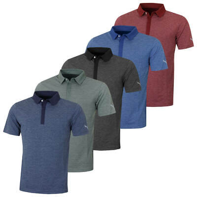 Puma Golf Mens Moving Day Cresting Wicking Short Sleeve Polo Shirt 61% OFF RRP