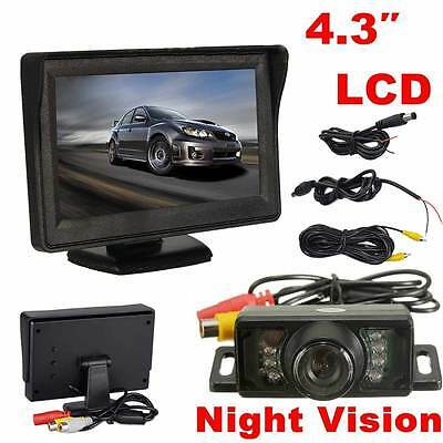 "Car Rear View Kit 4.3"" LCD Monitor+IR Night Vision Waterproof Reversing Camera"