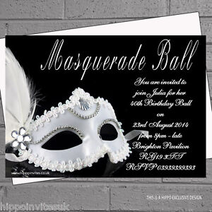 Masquerade Invitations: Cards & Stationery | eBay