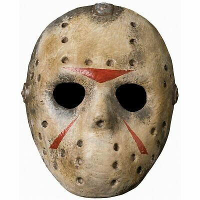 Jason Friday 13th Halloween Costume Deluxe (Deluxe Jason Hockey Mask Friday the 13th Adult Mens Halloween Costume)