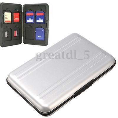 Aluminium Speicherkartenhülle Micro SD SDHC Speicherkarte Tasche Cover Box Etui