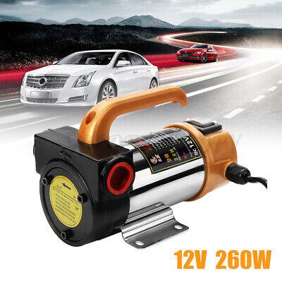 12v 260w Portable Electric Fuel Diesel Kerosene Pump Oil Transfer Pump 50lmin