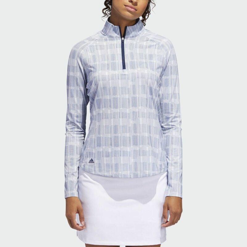 adidas Ladies Climacool UPF Printed 1/2 Zip Polo Shirt