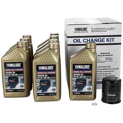 YAMAHA 5W30 Outboard Oil Change Kit LUB-MRNSH-KT-05 2010+ VF250 VF225 VF200