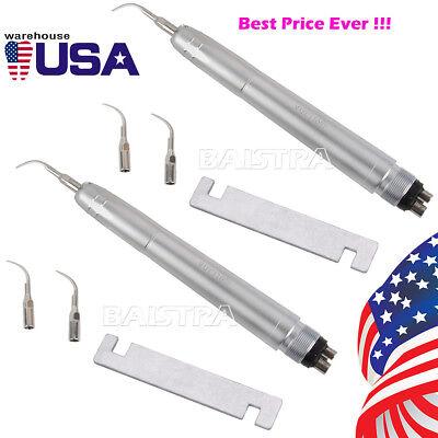 2set Dental Air Scaler Handpiece Nsk Style 3compatible Tip 15000hz-17000hz 4hole