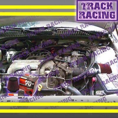 1994 1995 CHEVY BERETTA/CHEVROLET CORSICA 3.1L V6 AIR INTAKE KIT+K&N Red