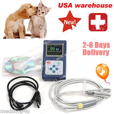 Us Handheld Veterinary Pulse Oximeter Cms60dvetpr Spo2 Monitorpc Software