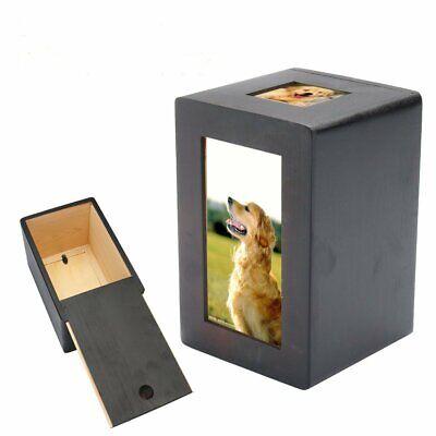 Photo Pet Urn (US Durable Pet Dog Cat Cremation Urn Peaceful Pet Memorial Keep Sake Photo Box )