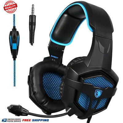 SADES SA-807 Stereo Gaming Headset Headphones Over-Ear with Microphone