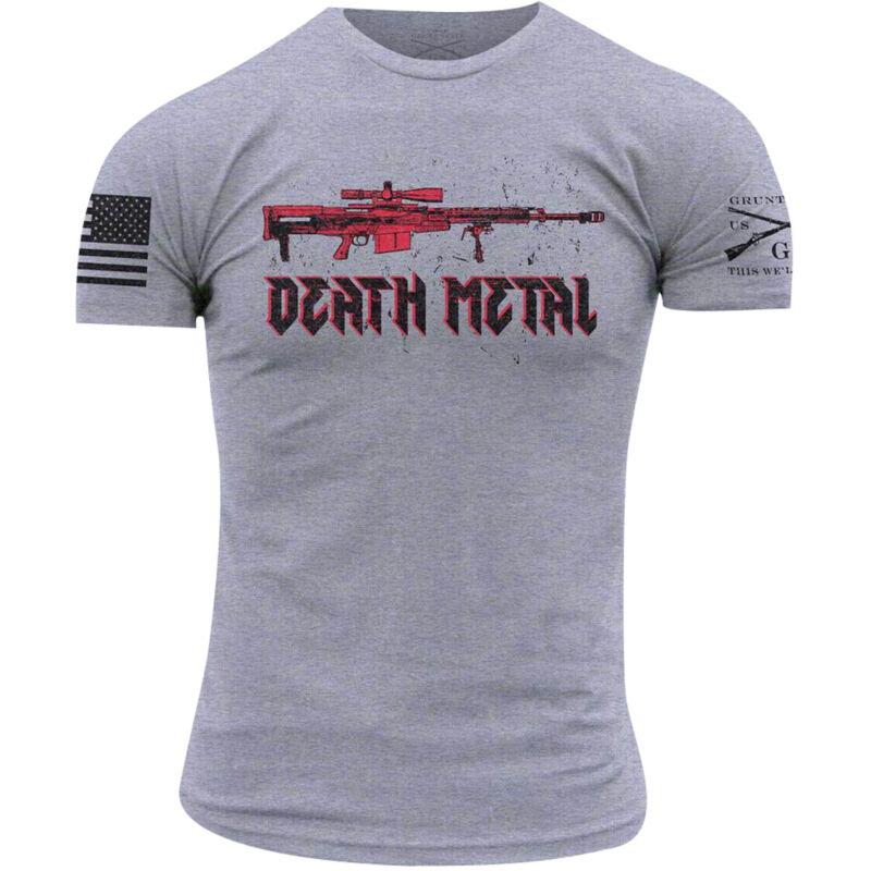 Grunt Style Death Metal T-Shirt - Heather Gray