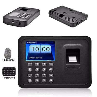 "2.4""TFT Biometric Fingerprint Time A6 Attendance Clock Employee Payroll Recorder"