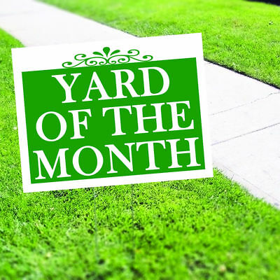 Yard Of The Month Plastic Indoor Outdoor Coroplast Yard Sign