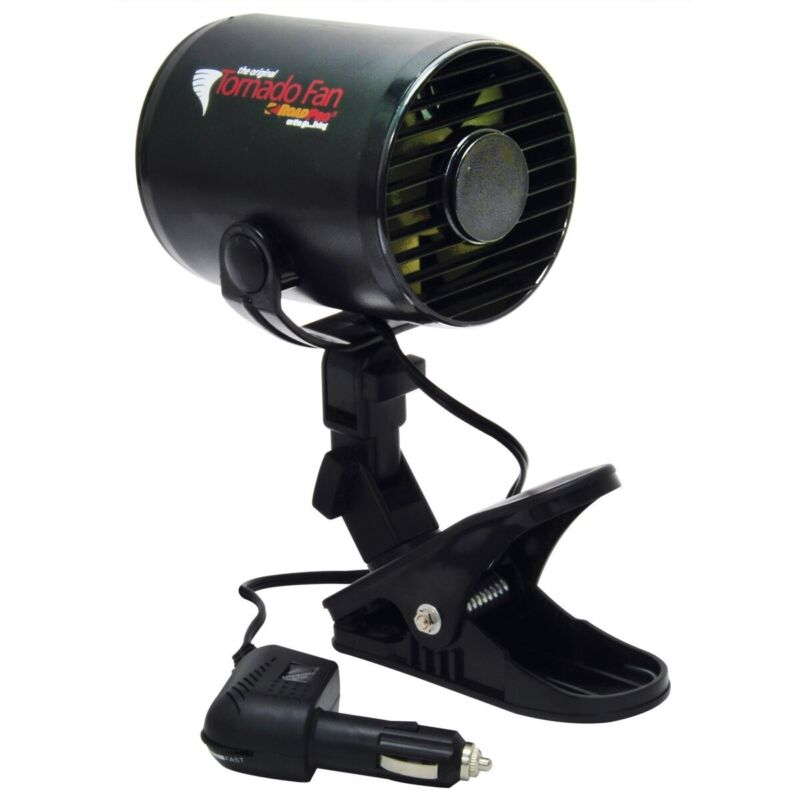 RoadPro RPSC-857 12-Volt Tornado Fan with Mounting Clip - NOS