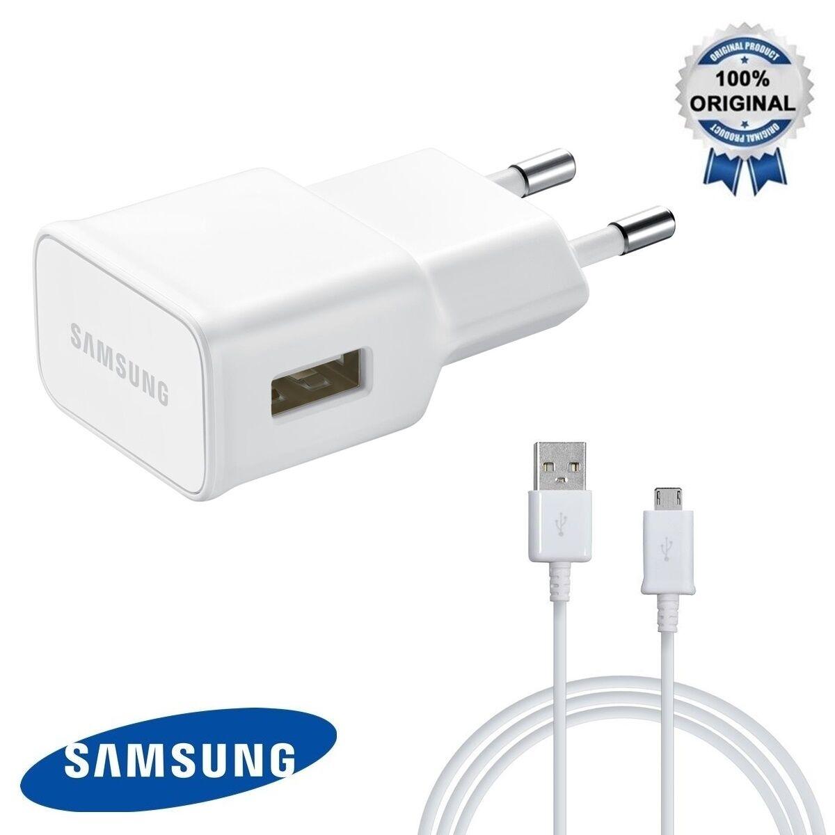 ALIMENTATORE RETE CARICABATTERIA SPINA+CAVO DATI RICARICA USB ORIGINALE SAMSUNG