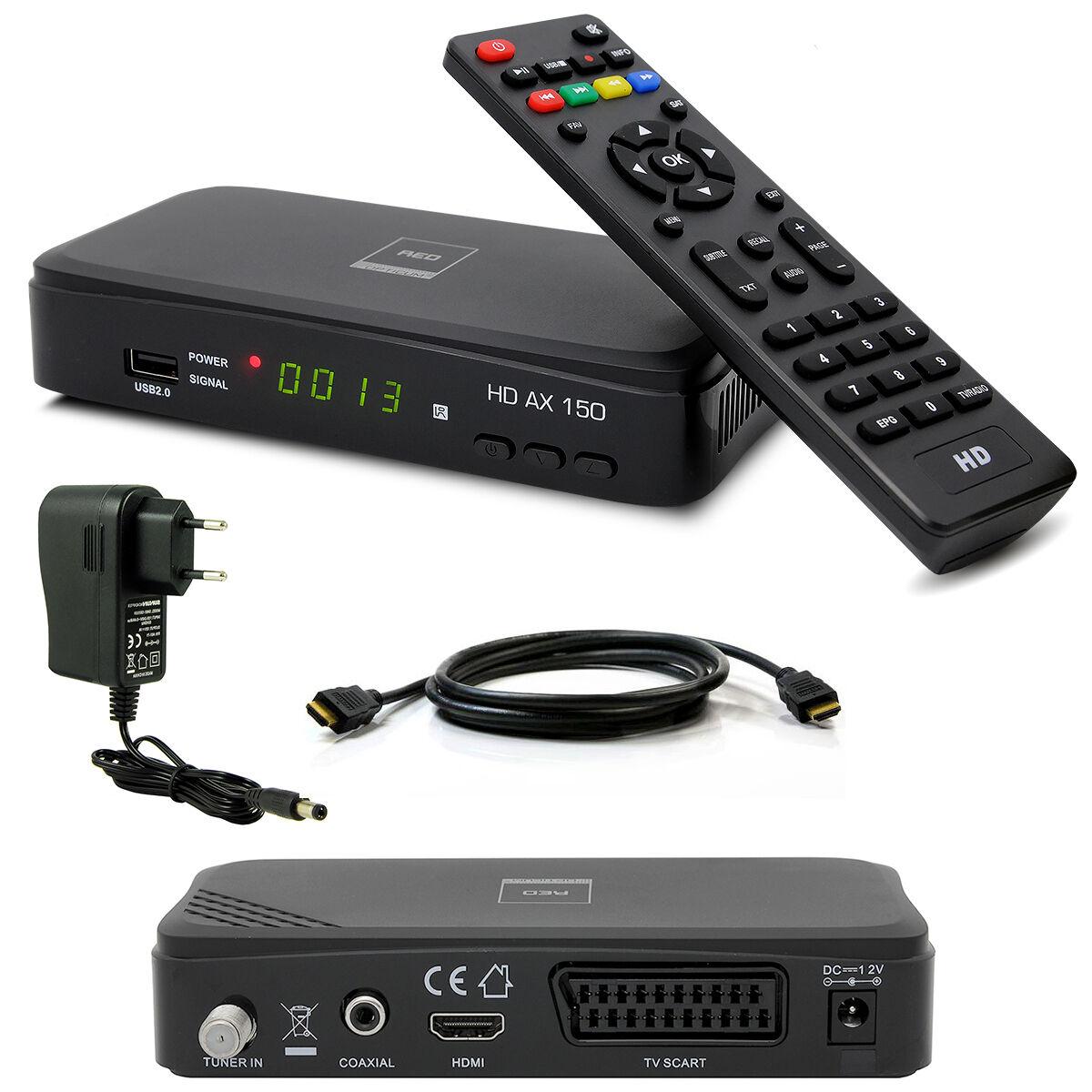 HDTV HD FULL Digital Sat Receiver OPTICUM AX150 AX 150 HDMI DVB-S2 1080p USB S60