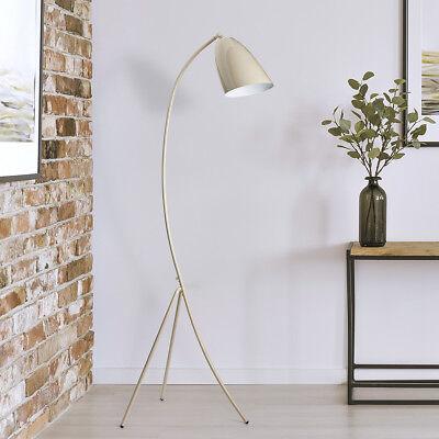 LED Stehleuchte Stehlampe Skandinavisch Design Licht Dreibein Vintage Beige
