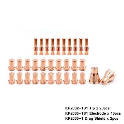 Kp2062-1b1 Tip Kp2065-1 Drag Shield For Lincoln Pro-cut 25 Plasma Cutter Torch
