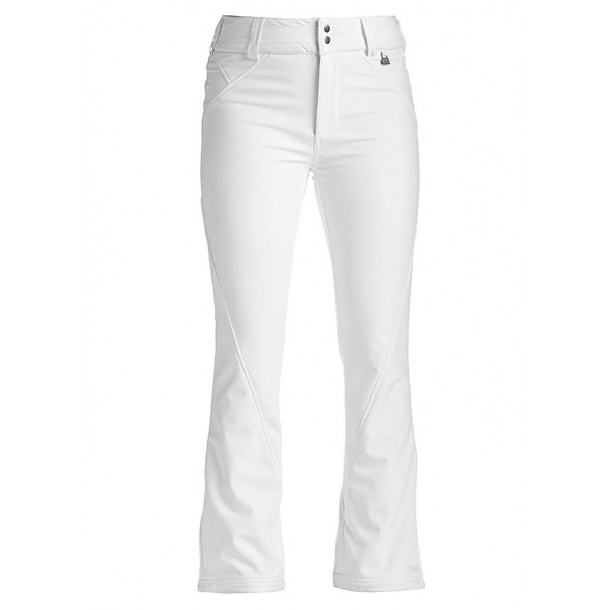 Women's NILS Betty Softshell Ski Pants WHITE Mid Rise Warm,