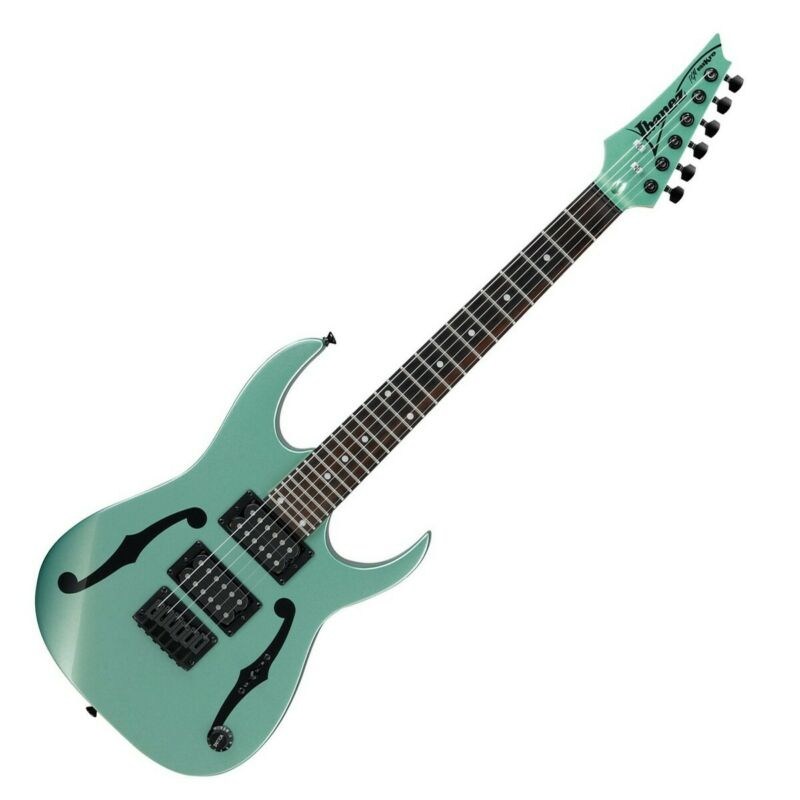 Ibanez PGMM21-MGN Paul Gilbert miKro Electric Guitar, Metallic Light Green
