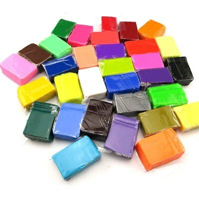 ONLY 32 Color Oven Bake Polymer Clay Block Modelling Moulding Sculpey Toys NT5