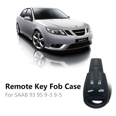 2Pc SAAB 93 95 9-3 9-5 REMOTE KEY FOB REPLACEMENT case shell(With Switch&Battery