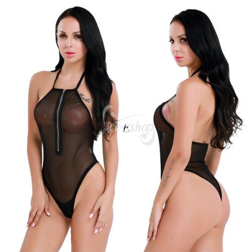 bd86724dd8 Sexy Women s High Cut Backless Mesh Thong Leotard Sissy Bodysuit Club Dance  WearUSD 3.95