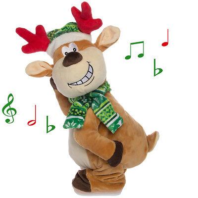 Dancing Singing Naughty Reindeer Plush Adult Animated Christmas Decorations