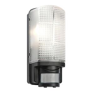 SAXBY Modern Outdoor Black IP44 Motion Sensor PIR Bulkhead Security Wall Light