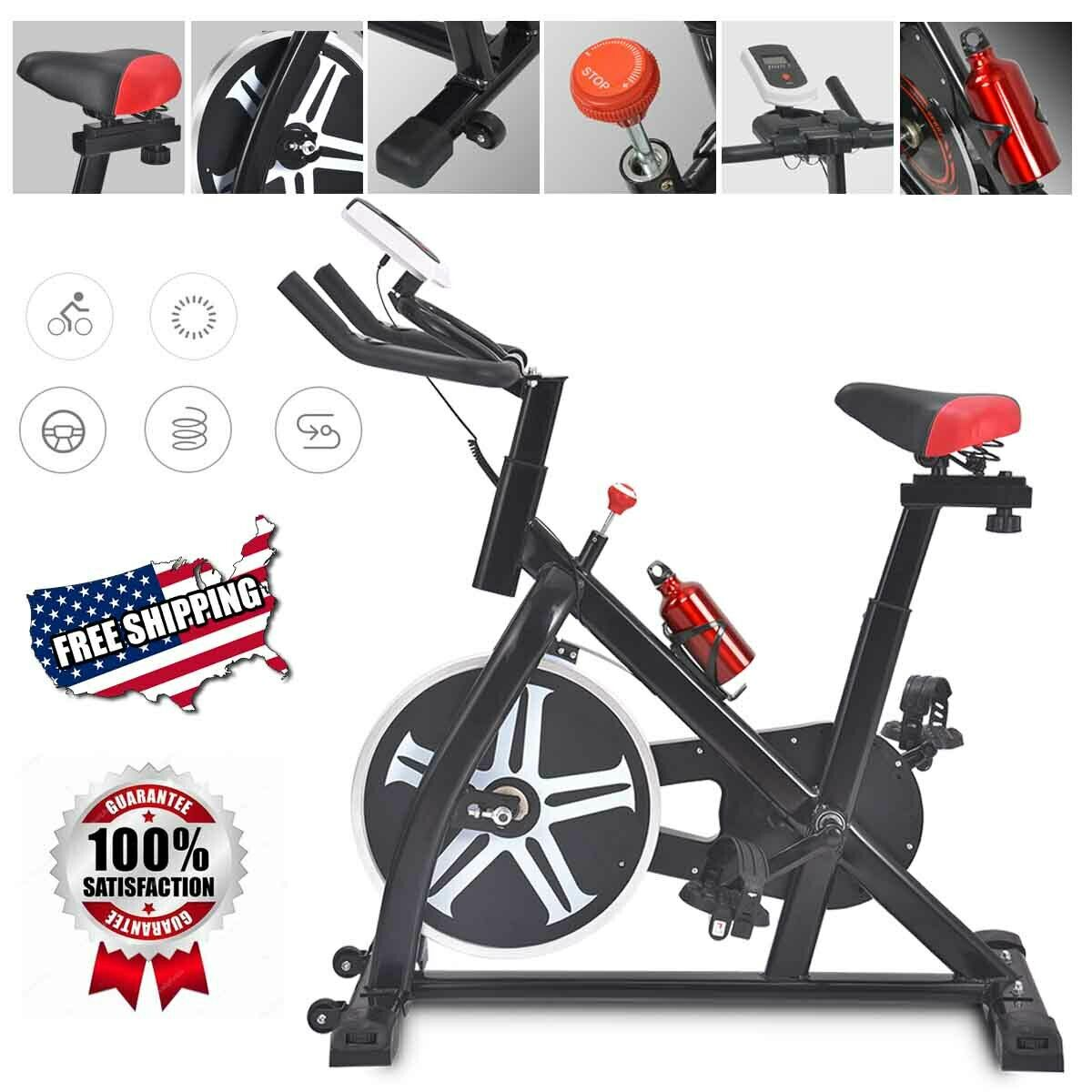 Pro Stationary Exercise Bike Bicycle Trainer Fitness Cardio