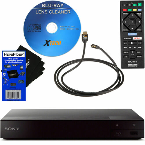 Sony BDP-S3700 Blu-Ray Player with 1080p HD Resolution & Built-In Wi-Fi, Black