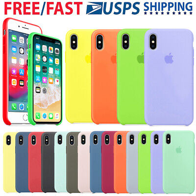 For Apple iPhone X XR XS Max 7 8Plus Original Silicone Genuine Luxury Case Cover