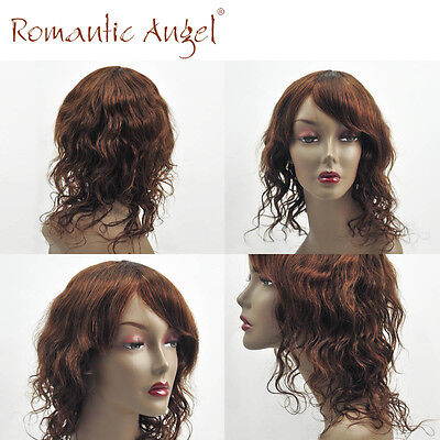 Afro American Soft Natural Wave Cheap Wigs 100% Indian Human Hair Machine Made - Cheap Afro Wigs