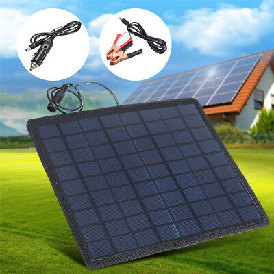 12 V 5.5W Solar Panel Power Battery Charger Vest-pocket For Car Boat Motorcycle