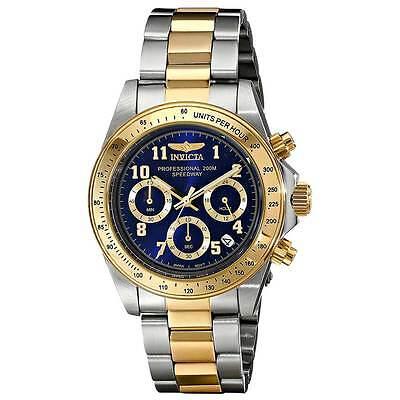 Invicta 17028 Men's Blue Dial Two Tone Chronograph Quartz Watch