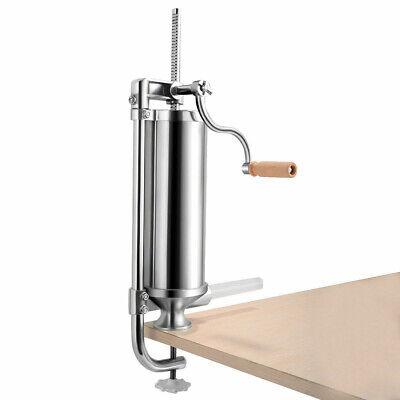 Vertical Sausage Stuffer 3 L Steel Maker Meat Filler Commercial Home Kitchen