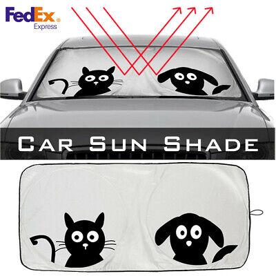 Folding Jumbo Cartoon Front Car Window Sunshade Windshield Sun Visor Block Cover (Tucson Spectrum)