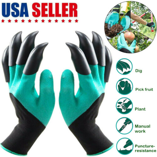 Gardening Digging Planting Gloves Pruning Tools Lawn Care 8 Claws Garden Genie Garden Clothing & Protective Gear